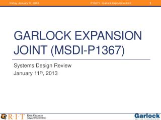 Garlock Expansion Joint (MSDI-P1367)