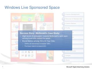 Windows Live Sponsored Space