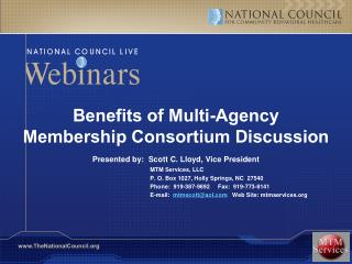 Benefits of Multi-Agency Membership Consortium Discussion