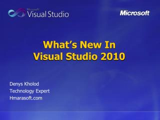 What's New In Visual Studio 2010