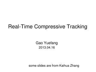 Real-Time Compressive Tracking