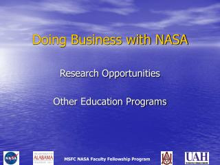 Doing Business with NASA