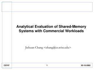 Analytical Evaluation of Shared-Memory Systems with Commercial Workloads