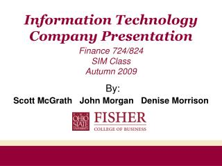 Information Technology Company Presentation