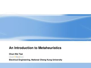An Introduction to Metaheuristics