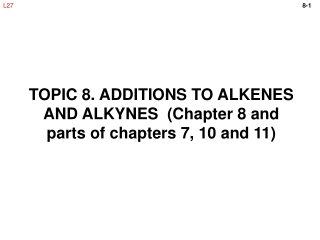 Chapter 8 Reactions of Alkenes