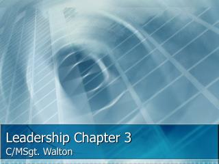 Leadership Chapter 3