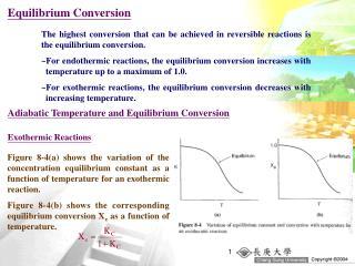 Equilibrium Conversion