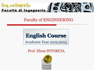 English Course Academic Year 2012.2013