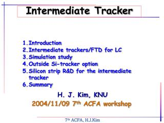Intermediate Tracker