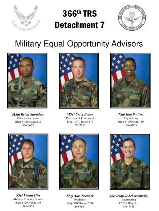 MSgt Brian Saunders Vehicle Operations Bldg 5400 Room 202 596-2677