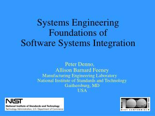 Systems Engineering Foundations of  Software Systems Integration