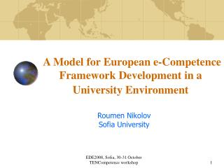 A Model for European e-Competence Framework Development in a University Environment