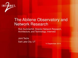 The Abilene Observatory and Network Research
