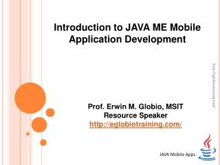 JAVA Mobile Apps