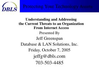 Protecting Your Technology Assets