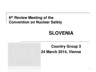 6 th  Review Meeting of the Convention on Nuclear Safety                               SLOVENIA