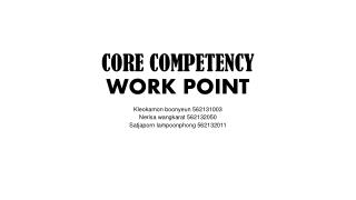 CORE COMPETENCY WORK POINT