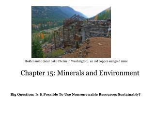 Chapter 15: Minerals and Environment