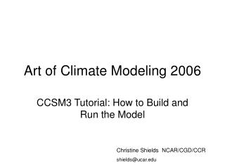 Art of Climate Modeling 2006