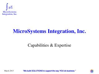 MicroSystems Integration, Inc.