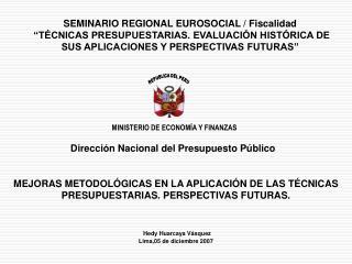 Dirección Nacional del Presupuesto Público