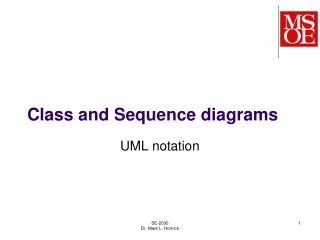 Class and Sequence diagrams