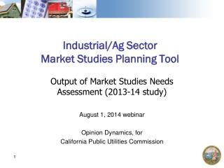 Industrial/Ag Sector Market Studies Planning Tool
