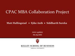 CPAC MBA Collaboration Project