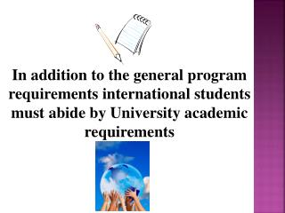Program requirements International(F-1) Students