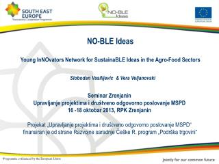 NO-BLE Ideas  Young InNOvators Network for SustainaBLE Ideas in the Agro-Food Sectors