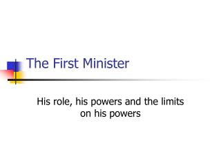 The First Minister