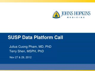 SUSP  Data Platform Call