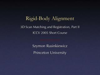 Rigid-Body Alignment