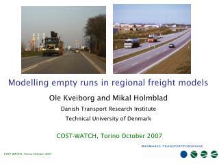 Modelling empty runs in regional freight models
