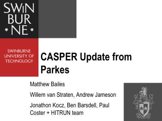 CASPER Update from Parkes