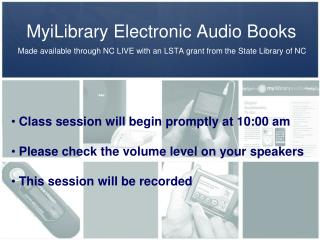 MyiLibrary Electronic Audio Books