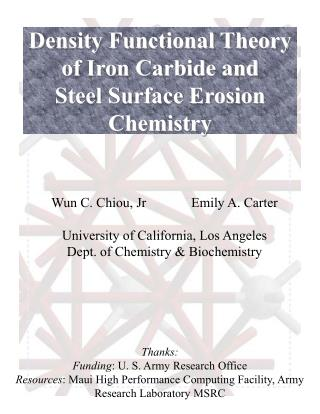 Density Functional Theory of Iron Carbide and Steel Surface Erosion Chemistry