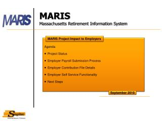 Agenda Project Status Employer Payroll Submission Process Employer Contribution File Details