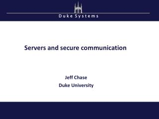 Servers and secure communication