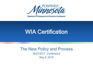 WIA Certification