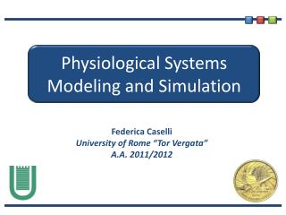 Physiological Systems Modeling  and  Simulation