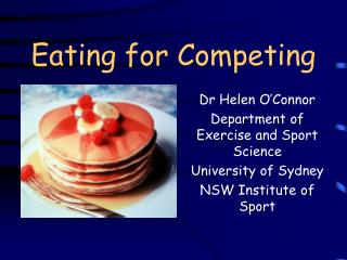 Eating for Competing