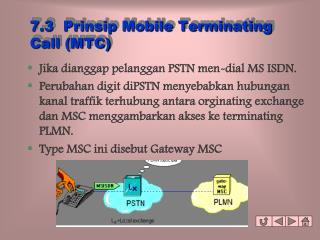 7.3  Prinsip Mobile Terminating Call (MTC)