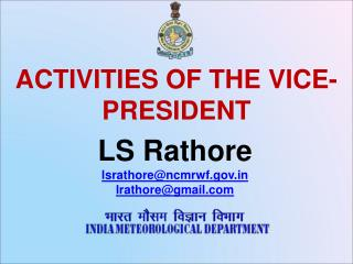 Activities of the vice-president