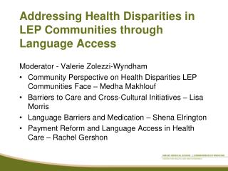 Addressing Health Disparities in LEP Communities through Language Access