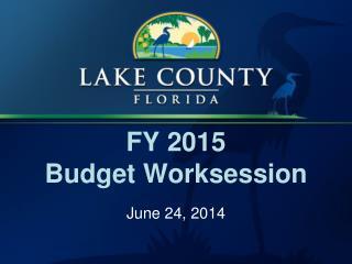 FY 2015  Budget Worksession
