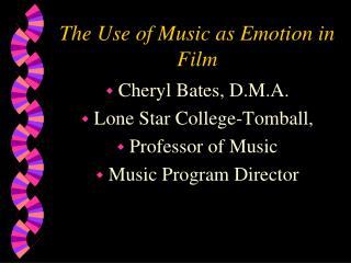 The Use of Music as Emotion in Film