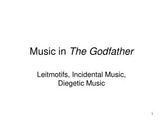 Music in  The Godfather