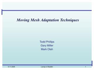 Moving Mesh Adaptation Techniques